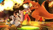 Dr. Mario y Charizard en la Liga Pokémon SSB4 (Wii U)