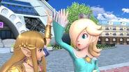 Estela y Zelda en la Torre Prisma SSBU