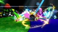 Kirby usando Gran Espada (2) SSB4 (Wii U)
