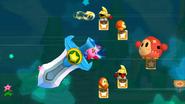 Kirby utilizando la Gran Espada Kirby's Return to Dreamland