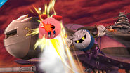 Meta Knight usando Lanzadera contra Kirby SSB4 (Wii U)