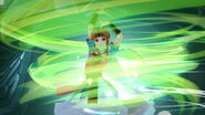 Zelda usando Viento de Farore SSBU