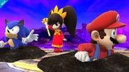 Ashley enterrando a Mario y a Sonic SSB4 (Wii U)