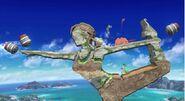 Escenario con forma de la Entrenadora de Wii Fit SSB4 (Wii U)