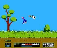 Dos patos volando en Duck Hunt