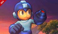 Mega Man en la versión de 3DS de cerca en SSB4
