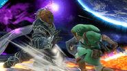 Ganondorf y Link en Destino final SSB4 (Wii U)
