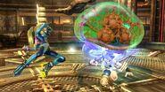 Metroide atacando a Pit en la Central Geotermica SSB4 (Wii U)