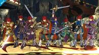 Roy mostrando sus colores alternativos en el Castillo asediado SSB4 (Wii U)