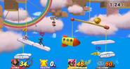 Fase aérea de Yoshi's Woolly World SSB4 (Wii U )