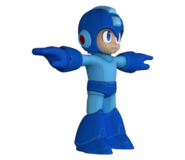 Pose T Mega Man SSB4 (Wii U)