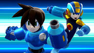 Mega Man.EXE y Mega Man Volnutt SSB4 (Wii U)