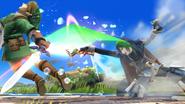 Lucina usando la Danza del sable contra Link SSB4 (Wii U)