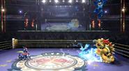 Múltiples impactos del Shuriken de agua SSB4 (Wii U)
