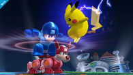 Mega Man junto a Pikachu SSB4 (Wii U)