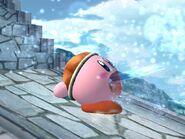Kirby usando Pistola agua SSBB