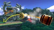 Bowser, Pac Man y Donkey Kong en la Jungla escandalosa SSB4 (Wii U)