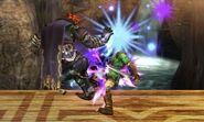 Ganondorf usando Salto oscuro en SSB4 (3DS)
