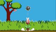 Planta Piraña usando Bola con espinas en Duck Hunt SSBU