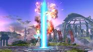 Ataque Smash hacia Arriba de Palutena SSB4 (Wii U)