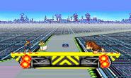 Versión omega de Mute City en el Modo Entrenamiento SSB4 (3DS)