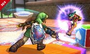 Link y Samus SSB4 (3DS)