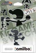 Embalaje del amiibo de Mr. Game & Watch