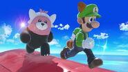 Bewear y Luigi en Pilotwings SSBU