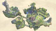 Vista aérea de todo el lugar de Neburia SSB4 (Wii U)