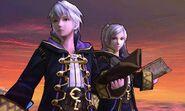 Daraen hombre y mujer en el Campo de batalla SSB4 (3DS)
