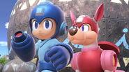 Mega Man y Rush en la Gran Bahía SSBU