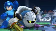 Meta Knight y Mega Man en el Castillo del Dr. Willy SSB4 (Wii U)