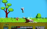 Mario, Donkey Kong y el Dúo Duck Hunt en el escenario Duck Hunt SSB4 (Wii U) (3)