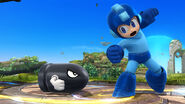 Mega Man junto a un Bill Bala SSB4 (Wii U)