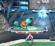 Squirtle usando Burbuja SSBB