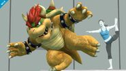 Bowser y la entrenadora de Wii Fit SSB4 (Wii U)