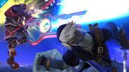 Shulk y Link en el Campo de Batalla SSB4 (Wii U)
