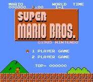 Menú principal Super Mario Bros.