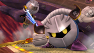 Meta Knight y un Luchador Mii en el Hal Abarda SSB4 (Wii U)