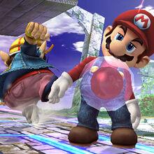 Bomba Gooey adherida a Mario SSBB.jpg
