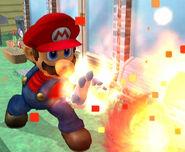 Mario usando bola de fuego SSBM