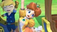 Daisy y Toon Link conductor en el Tren de los Dioses SSBU