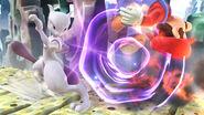 Mewtwo usando Confusión contra Mario en el Reino Champiñón U SSB4 (Wii U)