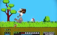 Mario, Donkey Kong y el Dúo Duck Hunt en el escenario Duck Hunt SSB4 (Wii U) (2)