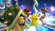 Pikachu realizando trueno SSB4 (Wii U)