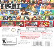 Parte trasera de la portada de la versión de 3Ds