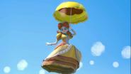 Daisy usando Sombrilla SSBU