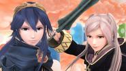 Lucina y Daraen mujer en el Reino Champiñón U SSB4 (Wii U)