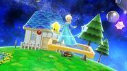 Estela evitando la Poké Ball con un movimiento especial SSB4 (Wii U)
