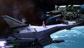 Palutena, Peach y Samus en la Estación espacial SSB4 (Wii U)